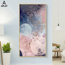 Milky Way Universe Galaxy Pink Planet Canvas Posters Prints Painting Landscape Wall Art Pictures for Living Room Decoration(China)