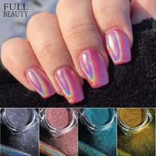 Голографическая пудра на ногтях Лазерная Серебряная блестящая Хромовая пудра для ногтей DIP Shimmer Гель-лак хлопья для маникюра пигмент CH1028-4