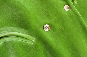 Image 5 - Chicever エレガントな女性のブレザーノッチ長袖ダブルブレストポケット大サイズの女性スーツ秋ファッション新 2020