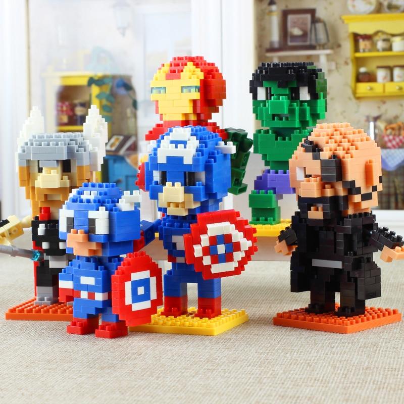 Superhero Block Desktop Decoration Family Toy 10 Pcs Design Micro Brick In Stock Hot Kids Birthday Gift