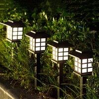 Latarnia pałacowa zewnętrzne ogrodowe lampki na palikach Retro słoneczna trawnik lampka punktowa krajobraz podwórko oświetlenie ścieżki w Lampy gazonowe od Lampy i oświetlenie na
