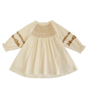 Image 5 - فستان للأطفال بناتي الوطني نمط فستان مطرز 2020 ربيع جديد موضة فستان طفل ملابس طفلة