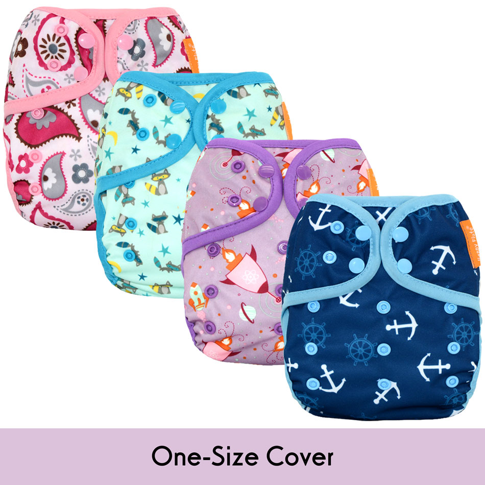 New Prints Happy Flute NEW OS Baby Cloth Diaper Cover ,waterproof Breathable S M& L Adjustable,fit 5-15kg Baby