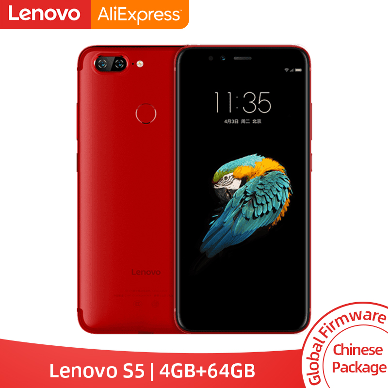 Global ROM Lenovo S5 K520 4GB RAM 64GB Snapdragon 625 Octa Core Smartphone Dual Rear 13MP Front 16MP Face ID 4K Cellphone