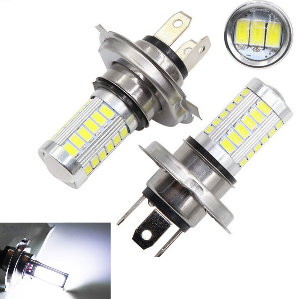 H4 LED Lamp Car Headlight Cold White 33 SMD 5630 5730 Light Bulb Auto Automobile Fog Light Headlamp 12V DC