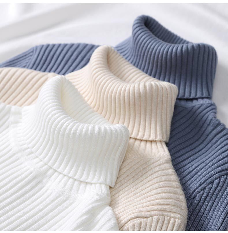 Turtleneck Cashmere Women Sweaters And Pullovers Autumn Winter Long Sleeve Fit Slim Pull Femme Hiver Casual Knitted Sweater