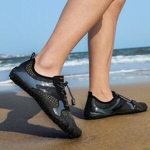 Image 4 - Unisex büyük boy su ayakkabısı Aqua plaj ayakkabısı hızlı kuru yukarı çıplak ayakkabı açık ayakkabı yüzme spor dalış ayakkabı