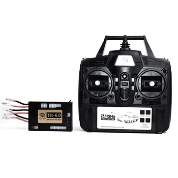 1/16 RC Car Remote Control 6.0 Function Mainboard + 2.4G Transmitter Remote Control System Set for Heng Long RC Tank Model RM79