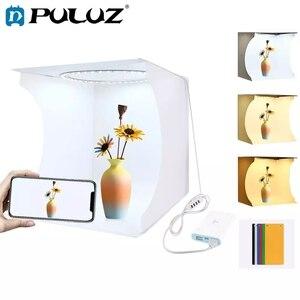 Image 1 - PULUZ 30*30cm Lightbox מיני מתקפל צילום סטודיו תיבת צילום LED 30cm Lightbox סטודיו ירי אוהל ערכת & 6 צבע תפאורות