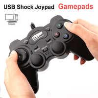 Wired Choque Game Controller Joystick Joypad USB 2.0 Gamepad Para PC Computador Portátil Win7/8/10/XP /Vista Wired Game pad Joystick