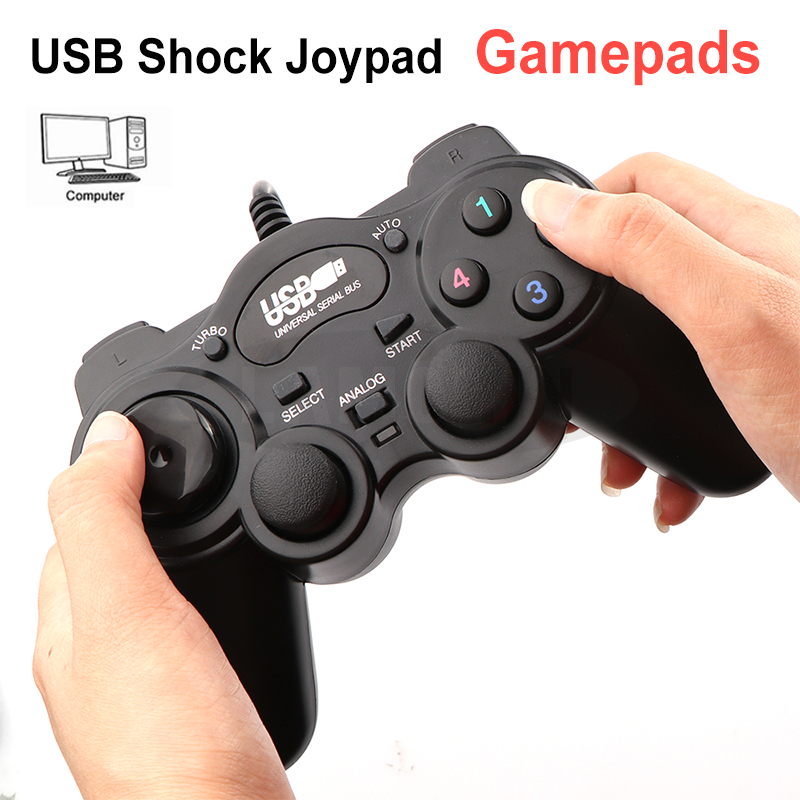 Wired Shock <font><b>Joystick</b></font> Game Controller USB 2.0 Joypad Gamepad For PC <font><b>Laptop</b></font> Computer Win7/8/10/XP/Vista Wired Game pad <font><b>Joystick</b></font> image