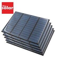 Bateria polycrystalline diy 1 5 10 20 100 pcs, painel solar epóxi 12 v 1.5 w, bateria módulo de carga de energia mini célula solar 115x85mm