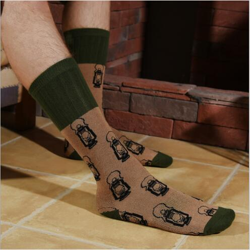 2019 Combed Cotton Fashion Hip Hop Men Socks Cartoon Animal Socks Skateboard Happy Socks Funny Socks