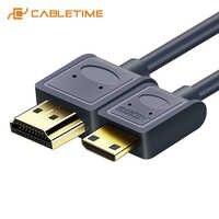 Mini HDMI a HDMI 2,0 Cable Micro HDMI 4K/60Hz M/M HDMI Premium de alta velocidad Mini HDMI cable 3D para HDTV Tablet PC PS4 XBox C126