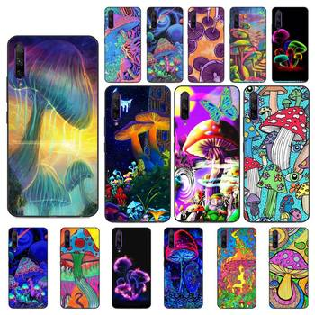YNDFCNB Trippy Mushroom Phone Case for Huawei Y5 II Y6 II Y5 Y6 Y7 Prime Y7Plus Y9 2018 2019 image