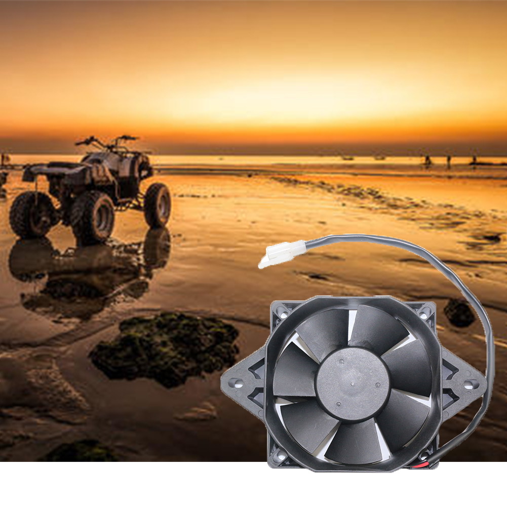7mm Electric Radiator Cooling Fan For 200cc 250cc Chinese ATV Quad Go Kart Buggy