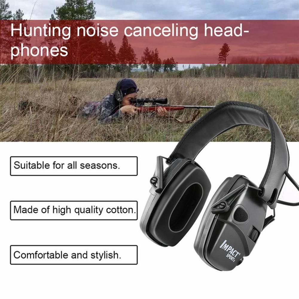 Горячая тактическая электронная съемка наушник Спорт на открытом воздухе Анти-шум гарнитура ударное Усиление звука слуха Защитная гарнитура-5