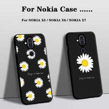 цена на Foundas Phone Case For Nokia X5 Cover Silicone for Nokia X6 case for Nokia X7 Case Rose Flowers back Cover armor soft tpu