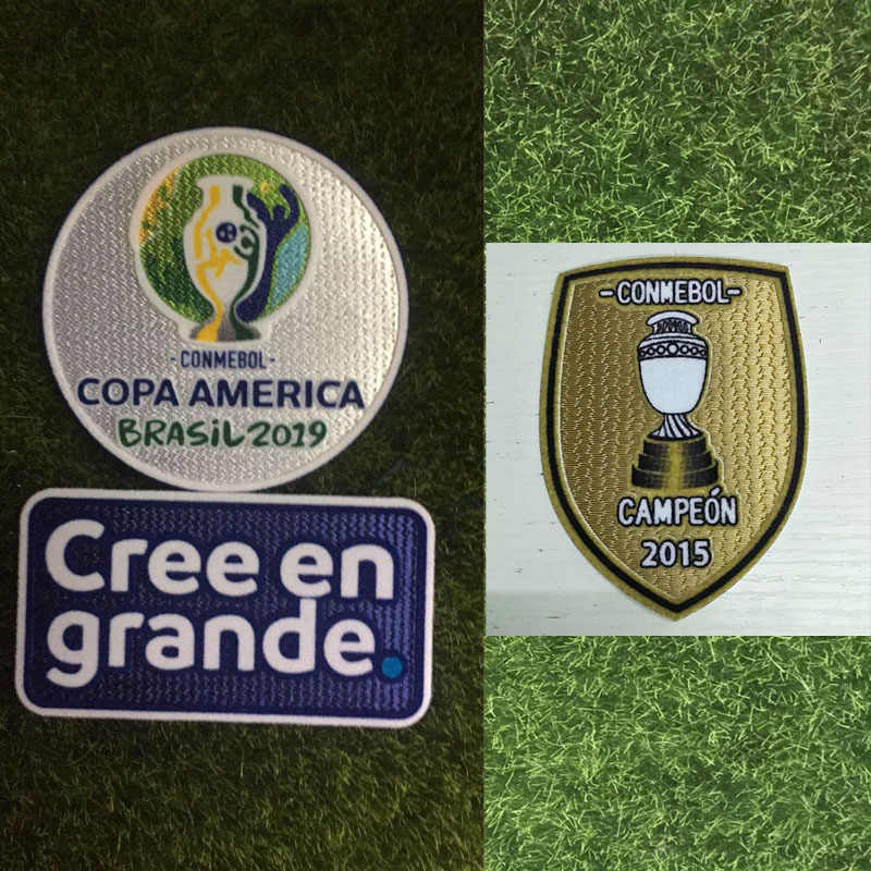 2019 Patch de Copa América E 2015 Chile Copa América Campeon Futebol Remendo Crachá
