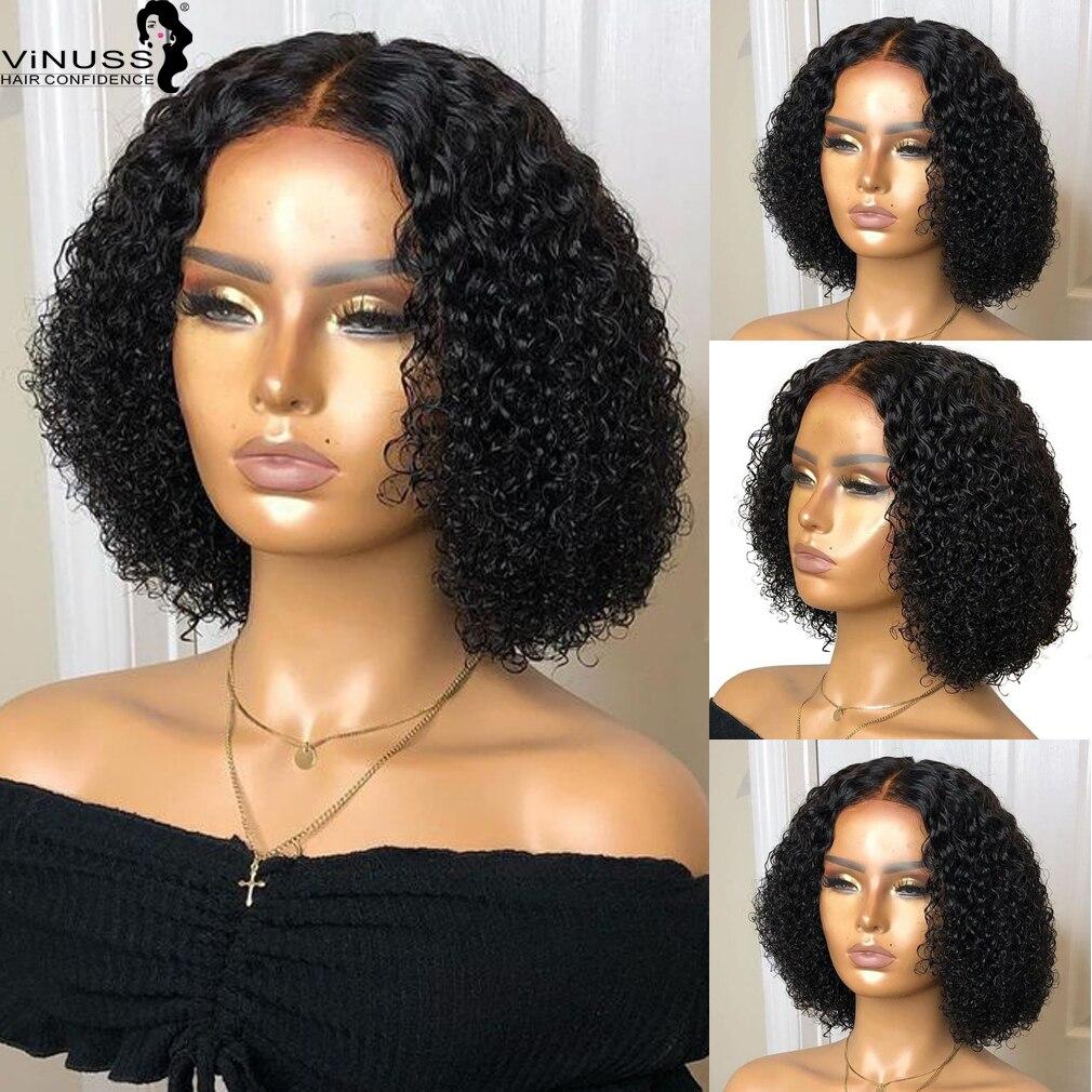 Афро кудрявые человеческие волосы парики 13х6 кружевной передний парик для черных женщин предварительно выщипанные отбеленные узлы глубоки... - 3