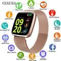 Новейший 1 3 дюймовый TFT квадратный экран Смарт-часы для мужчин Relogio цифровой розовое золото Smartwatch женские спортивные часы Bluetooth iOS ANDROID