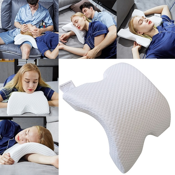 Memory Foam Bedding Pillow Anti-pressure Hand Pillow Ice Silk Slow Rebound Multifunction Pillow Home Silk Couple Beding