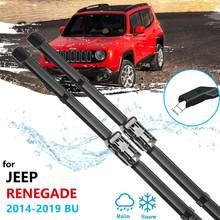 Para jeep renegado 2014 2015 2016 2017 2018 2019 bu trailhawk lâminas de limpador do carro janela dianteira pára brisas carro acessórios