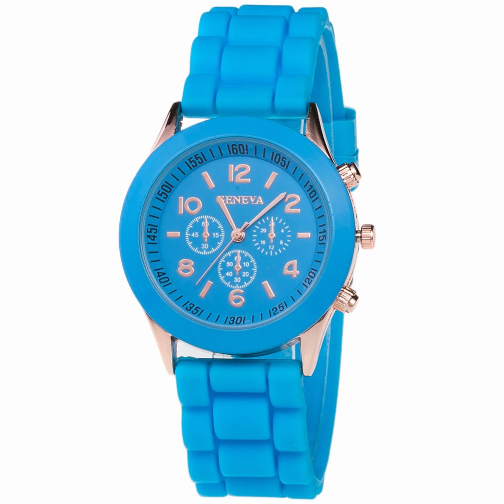 Fashion Stylish Unisex Bracelet Watch Analog Silica Jelly Gel Quartz Sports Wrist Watch Universal For Men Women