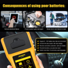AUTOOL Car Battery Tester with Thermal Printer 12v 24V 36V Vehicle Auto Multi-language Battery Tester Analyzer Diagnostic discount