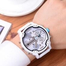Mens Watch Clock Calendar Dual-Quartz DZ Hour Luxury Business Stainless-Steel Sports
