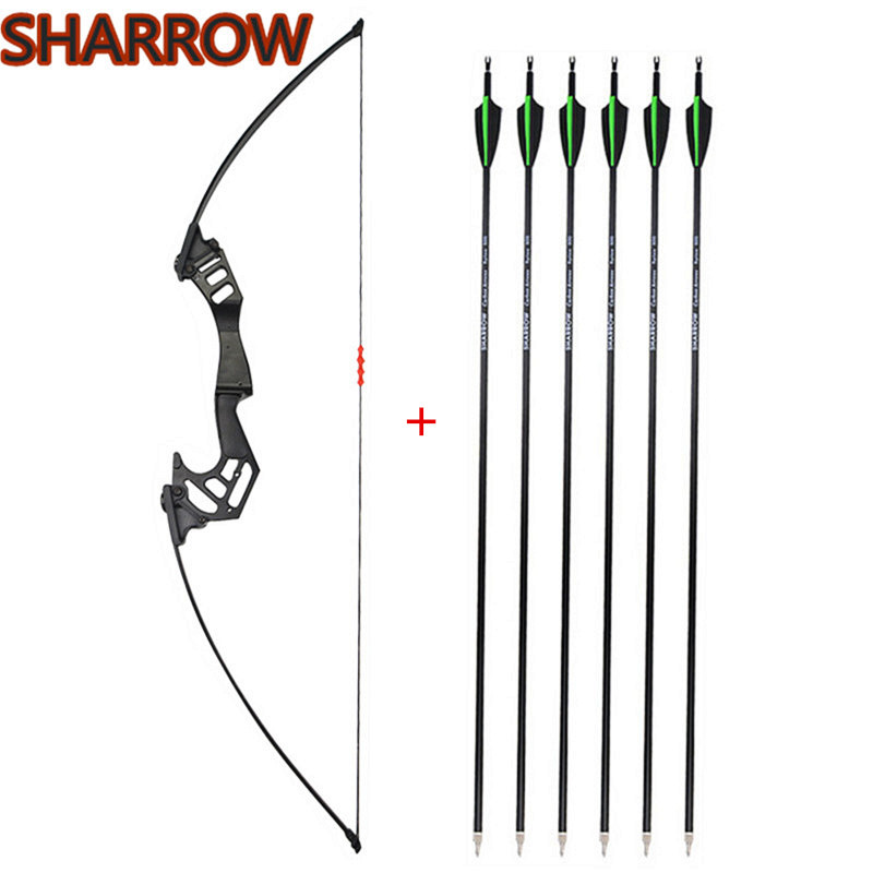 Archery Carbon Arrows SP500 Screw-in Tips Hunting Target For Recurve Bow Longbow