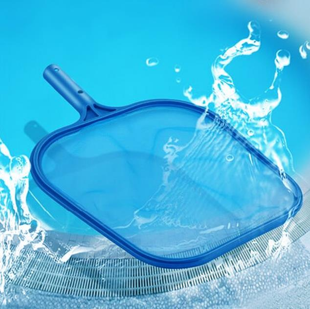 Blue Plastic Leaf Skimmer Rake Mesh Frame Cleaning Net Aqua Swimming Pool Pond Spa Tub Lightweight Easy-Glide Operation