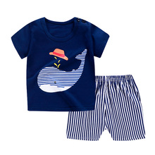 Baby Clothing Set for Boys Girl Cute Cartoon Printed t-shirt+Shorts Kids Home pajamas Toddler Boy Casual Clothes roupa infantil new summer toddler baby boy clothing set cute t shirt shorts 2pc cute casual cartoon children boys clothes suit for kids outfit