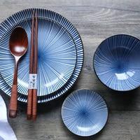 새로운 아이디어 서양 음식 스테이크 디너 플레이트가있는 세라믹 식기 디너 플레이트 8 인치 요리와 플레이트 세트
