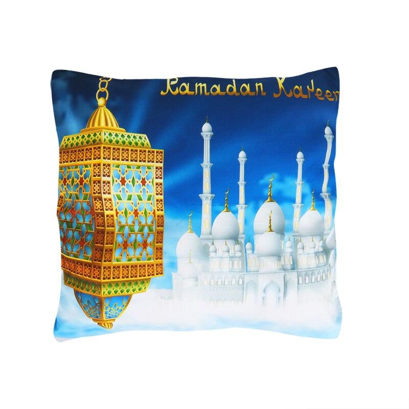 45x45cm Cotton Linen Eid Mubarak Cover Cushion Ramadan Decor for Home Ramadan Kareem EID Decor 2020 Islam Muslim Mubarak Gift