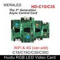 WERALED Primera Opción Huidu asynchonization HD-C15/HD-C15C/HD-C35 tarjeta de vídeo LED a todo Color, puede agregar WIFI inalámbrico/3G/4G modular