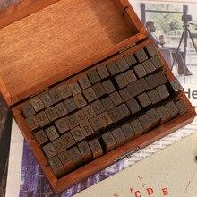 Jianwu múltipla série tendência vintage de madeira selos de jornal criativo letras e números selo diy estudante artigos de papelaria suprimentos