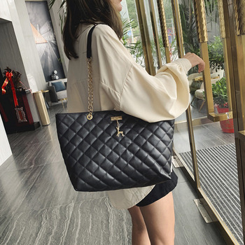 цена на Plaid Chain Leather Causal Tote With Deer Bolsa Feminina Luxury Handbags Bag Women Bags Designer Shoulder Clutch Sling Female