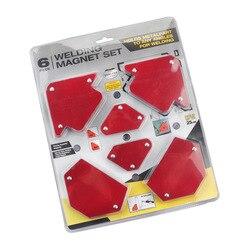 6 pièces/ensemble Triangle positionneur de soudage magnétique Angle fixe soudage localisateur outils sans interrupteur accessoires de soudage
