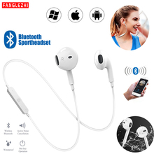 Earphones Bluetooth Wireless Headphones Noise Cancelling Handsfree Headset Neckband Sport Stereo Earphone With Mic for All Phone daono v9 handsfree business bluetooth headphone with mic voice control wireless bluetooth headset for drive noise cancelling