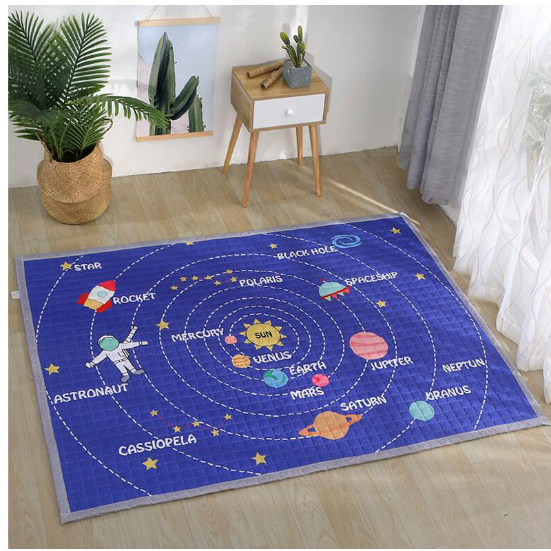 Four Seasons Universal Children's Game Pad Baby Crawling Polyester Fabric Baby Crawling Mat Living Room Bedroom Non-Slip Carpet