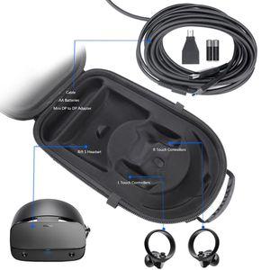Image 4 - Taşınabilir sert EVA çanta koruyucu kapak saklama kutusu taşıma çantası kılıfı Oculus yarık için S PC güçlü VR oyun kulaklığı