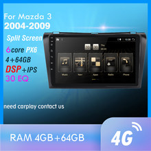 4G + 64Gb PX6 Auto Multimedia Speler Voor Maz Da 3 2004-2009 Maxx Axela Android 10 radio Auto Navigatie Gps 4G Wifi Achter Cam Dab +(China)