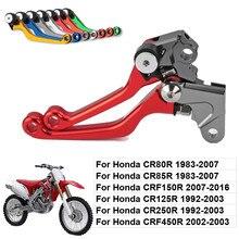 цена на 2015 CNC Pivot Brake Clutch Levers for Honda CRF 450R 2002-2003 CRF 450X 2005-2015 CRF 230F 2003-2009 Red Free shipping C20