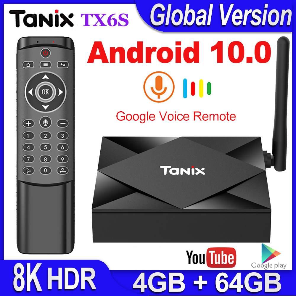 Tanix TX6S TV BOX Android 10 Smart tv box 4GB RAM 32GB 64GB ROM TVBox Allwinner H616 Quad Core Box H 265 4K Media player 2GB 8GB