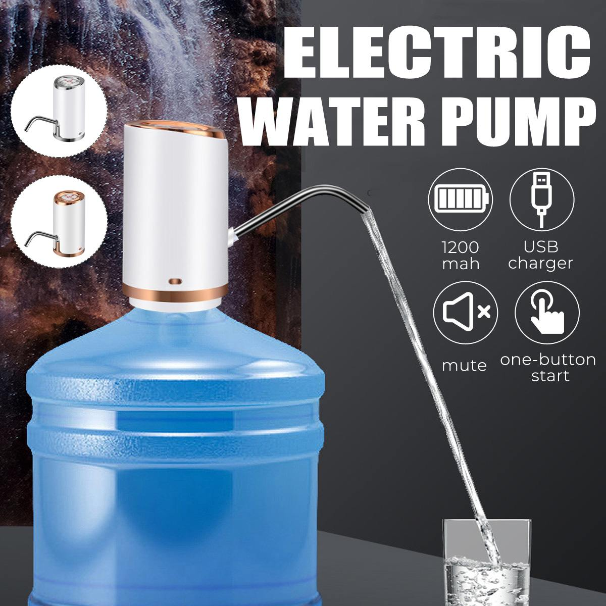 Portable Wireless Electric Automatic Water Pump Dispenser Gallon Drinking Bottle