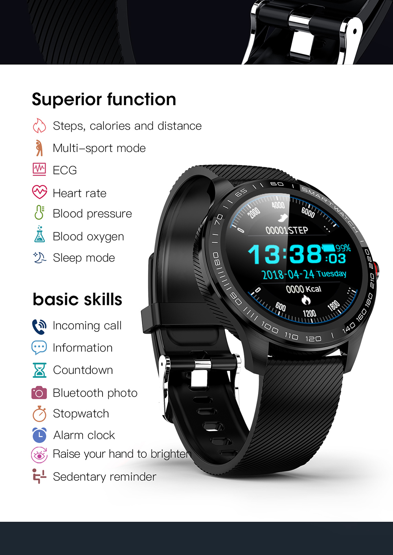 Hd1173da8f9fa48dd810000f42d6306a4h 696 L9 Full touch Smart Watch Men ECG+PPG Heart Rate Blood Pressure oxygen Monitor IP68 Waterproof Bluetooth Smart Bracelet
