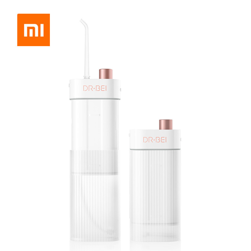 Xiaomi Mijia Dr.Bei Portable Oral Irrigator Dental Electric Water Flosser Waterproof USB Rechargeable Tooth Teeth Mouth Cleaner