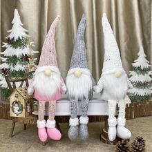 Christmas-Decorations Garland Merry Faceless-Doll Gift Xmas Home-Ornament New-Year Navidad