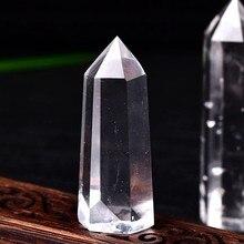 Natural bela coluna de cristal branco cristal decoração de quartzo hexágono coluna casa escritório para fengshui cura energia reiki